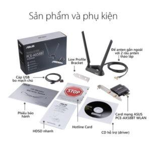 Card mạng WiFi PCI Express ASUS chuẩn AX3000 PCE-AX58BT