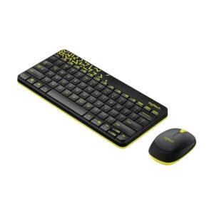 Bàn phím chuột không dây Logitech MK240 (Đen, Trắng)
