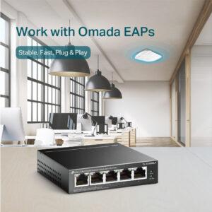 Switch TP-Link Để Bàn 5 Cổng Gigabit với 4 Cổng PoE+ TL-SG1005LP