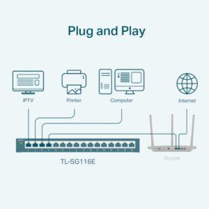 Switch TP-Link Easy Smart 16 Port Gigabit TL-SG116E