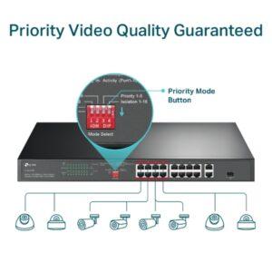 Gigabit Switch TP-Link 16 Port POE TL-SL1218P