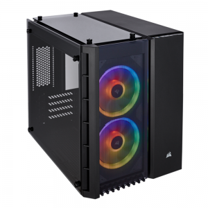 Case Corsair Crystal Series 280X RGB TEMPERED GLASS MICRO ATX (Tặng 2 Fan LL120RGB)