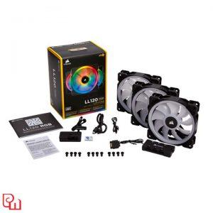 Quạt Case Corsair LL120 RGB 3 Fan + Lighting Node PRO (CO-9050072-WW)