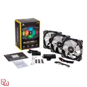 Quạt Case Corsair ML120 RGB 3 Fan + Lighting Node PRO