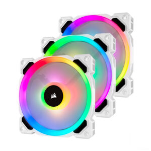 Quạt Case Corsair LL120 White RGB 3 Fan+Node PRO CO-9050092-WW