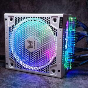Nguồn máy tính Super Flower Leadex III Gold ARGB 550W White - 80 Plus Gold