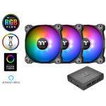 Quạt case Thermaltake Pure Plus 12 LED RGB Radiator Fan TT Premium Edition (Bộ 3 Fan) - CL-F063-PL12SW-A