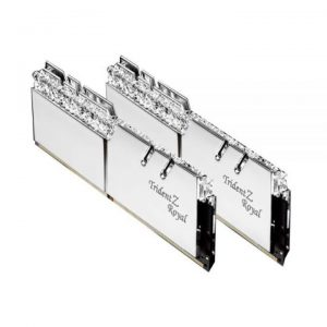 KIT Ram G.SKILL Trident Z Royal DDR4 RGB 16GB (8GB x 2) 3200MHz F4-3200C16D-16GTRS