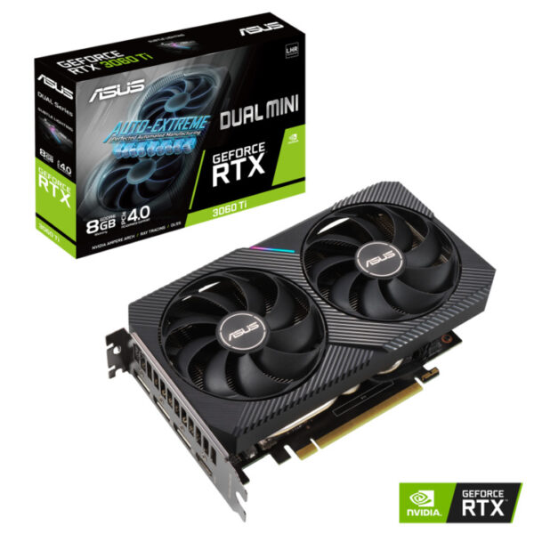 Card màn hình Asus Dual GeForce RTX 3060 Ti V2 MINI 8GB GDDR6